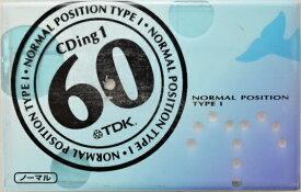 TDK カセットテープ CD1−60U ノーマルポジション