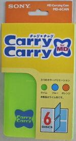 ソニー ミニディスク 用キャリングケース6枚収納 MD−6CAN