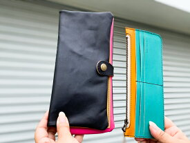 ▲F-PLUMP 広がるネオンカラーがかわいい「フルプランプ 長財布」キュン?