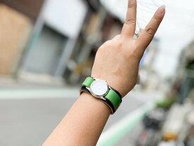 ▲WPILES 大好きジャマイカ☆カラー「Wパイルズ 腕時計」見やすい文字盤