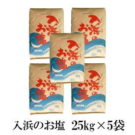 入浜のお塩 25kg×5袋