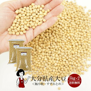 \送料無料/大分県産大豆《極小粒・規格外》すずおとめ 5kg×2(計10kg)/令和1年産 宅配便 納豆用 大豆 食物繊維 乾燥豆 こわけや