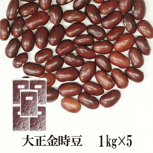 大正金時豆 1kg×5〔チャック付〕 宅配便 送料無料 チャック付 いんげん豆 乾燥豆 こわけや