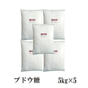 ブドウ糖 5kg×5〔チャック付〕 宅配便 送料無料 チャック付 グルコース 糖類 ぶどう糖 甘味 脳の栄養 脳のごはん こわけや