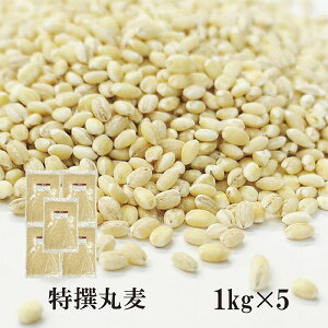 特選丸麦 1kg×5〔チャック付〕/国産 宅配便 送料無料 チャック付国産 特選 大麦 食物繊維 βグルカン こわけや