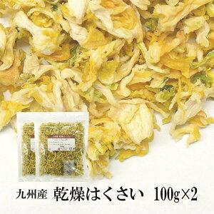 乾燥はくさい100g×2〔チャック付〕/九州産 乾燥野菜 白菜 メール便 送料無料 チャック付 九州産 国産 ボイル済み 保存食 時間短縮 スープ こわけや