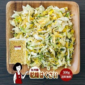 乾燥はくさい 300g〔チャック付〕/九州産 乾燥野菜 白菜 メール便 送料無料 チャック付 九州産 国産 ボイル済み 保存食 時間短縮 スープ こわけや