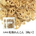乾燥れんこん 100g×2〔チャック付〕/九州産 乾燥野菜 レンコン メール便 送料無料 チャック付 九州産 国産 ボイル済…