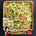 乾燥野菜ミックス 100g×2〔チャック付〕/九州産 乾燥野菜 きゃべつ 小松菜 大根 人参 メール便 送料無料 チャック付…