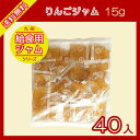 りんごジャム 15g×40袋【メール便で送料無料】【小袋ジャム】【給食用】【パン】