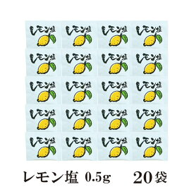 レモン塩 0.5g×20袋 メール便 送料無料 小袋 使いきり 調味料 塩 レモン アウトドア お弁当 イベント 和食 洋食 肉料理 野菜料理 魚料理 BQQ 天ぷら 小分け テイクアウト こわけや