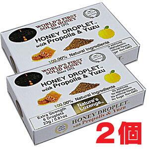 ★ゆうメール発送・送料無料★ハニードロップレット国産柚子・プロポリス・はちみつ(のど飴) x1箱(6粒入り)×2個