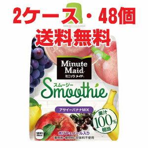 ★送料無料・2ケース★ミニッツ メイド スムージー アサイーバナナMIX 160g×48個(2ケース)