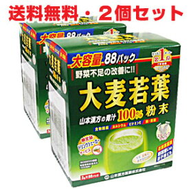 ★送料無料・2個セット★大麦若葉 おいしい青汁100% 3g×88包 10P03Dec16
