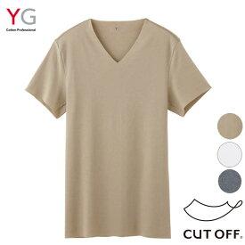 【ゆうパケット送料無料】グンゼ YG CUT OFF(カットオフ)仕様 VネックTシャツ 抗菌防臭【日本製】