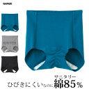 グンゼ ひびきにくいのに綿85% ショーツ【KIRIPPER Style】サニタリーショーツ【ゆうパケット可】