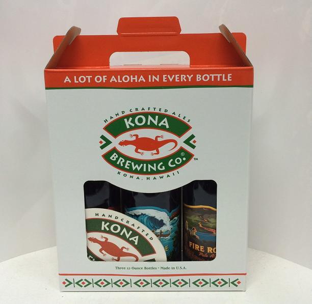 コナビール3本 専用コースター1枚付き 化粧箱入りセット kona beer ハワイ