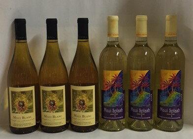 【送料無料】マウイブラン3本 マウイスプラッシュ3本 6本セット ハワイ パイナップルワイン