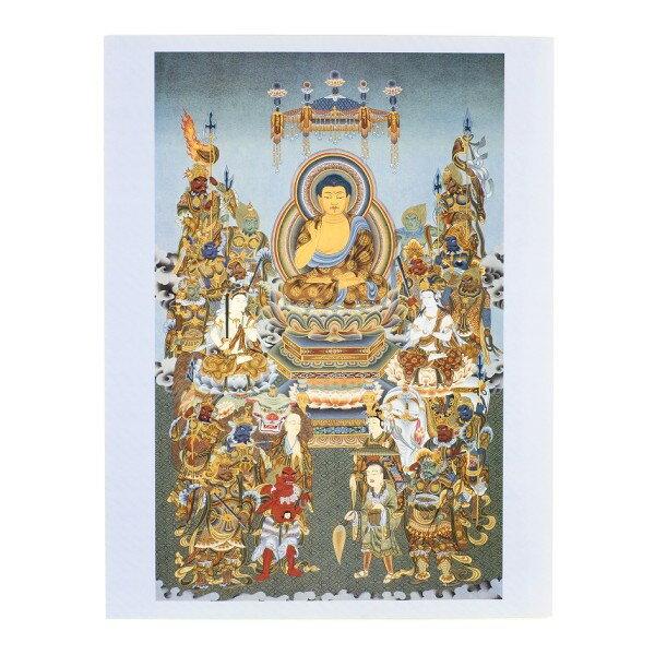 【仏画 曼荼羅 マンダラ】仏画ポスター 釈迦と十六善神 大衣サイズ【メール便不可商品】【RCP】