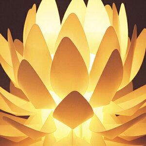■蓮の花のあかり|【Origami-lite蓮花M】置きあかり|100V40W(中間スイッチ)【カメヤマ】【盆提灯】【モダン提灯】【初盆】【あかり】仏具モダン
