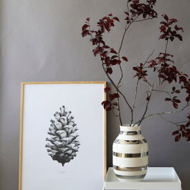 Paper Collective (ペーパーコレクティブ) ポスター 50×70cm 【パインコーン】松ぼっくり グレー 北欧 インテリア