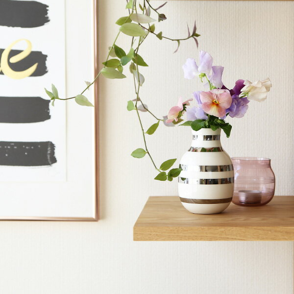 Kahler(ケーラー)オマジオ フラワーベーススモール シルバー 花瓶 陶器日本正規代理店品
