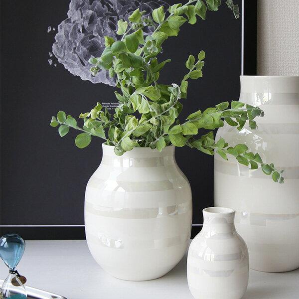 Kahler(ケーラー)オマジオ フラワーベースミディアムM(H20)パール 花瓶 陶器日本正規代理店品