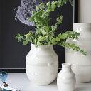 Kahler (ケーラー) オマジオ フラワーベースミディアムM(H20)パール 花瓶 陶器日本正規代理店品
