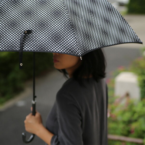 kura (クラ) Lisbet Friis(リズベットフリース) ミニフラワーパワー アンブレラ ブラック 傘