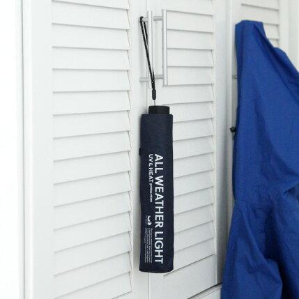 U-DAY(ユーデイ)AllWeatherLightMini折りたたみ傘ブラック/グレー/ネイビー/カーキ晴雨兼用傘/折り畳み/軽量/日傘/雨具