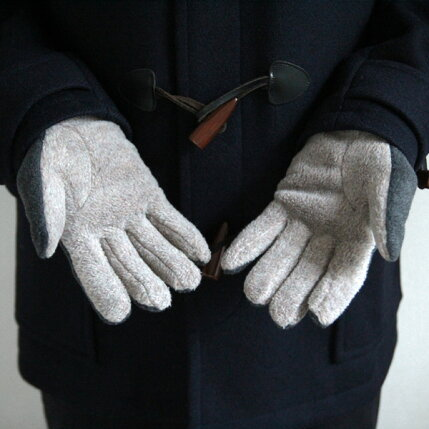 tet.(テト)グローブMENfleece(フリース)グレー&ベージュ/カーキ&キャメル手袋/防寒/日本製【メール便】