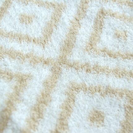 CUOL(クオル)タオルではじめる美髪ケア/フェイスタオル34×80cm無地/幾何学柄ホワイト/ベージュ/グレージュヘアケア/インテリア/今治タオル/日本製