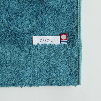 CUOL(クオル)タオルではじめる美髪ケア/フェイスタオル34×80cmヴィンテージブルー/アイスグレーヘアケア/インテリア/今治タオル/日本製