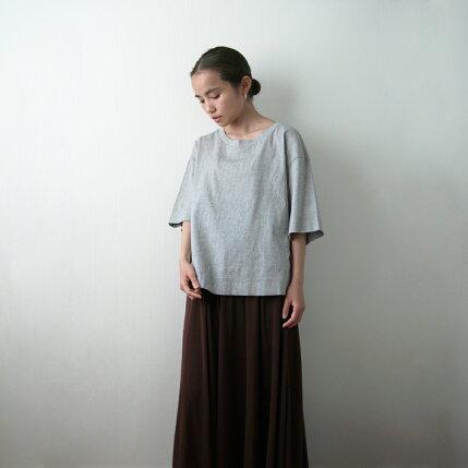 BIWACOTTON(ビワコットン)半袖BIG-Tシャツ1ホワイト/トップモク/ブラックビッグTシャツ/ステテコ生地/滋賀/伝統/ギフト