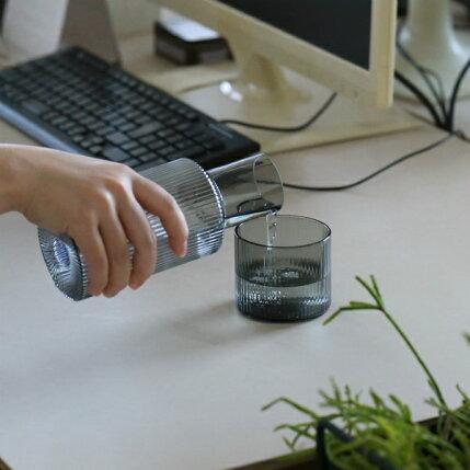fermLIVING(ファームリビング)RippleCarafeSet(リップルカラフェセット)スモークグレー北欧/ガラス食器/日本正規代理店品