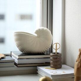 ferm LIVING (ファームリビング) Shell Pot(シェルポット) オフホワイト 北欧/インテリア/花瓶/フラワーベース/鉢