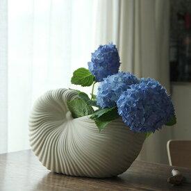 11月上旬発送予定!ferm LIVING (ファームリビング) Shell Pot(シェルポット) オフホワイト 北欧/インテリア/花瓶/フラワーベース/鉢