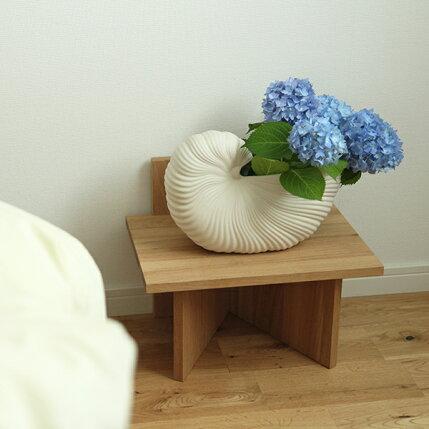 fermLIVING(ファームリビング)ShellPot(シェルポット)オフホワイト北欧/インテリア/花瓶/フラワーベース/鉢