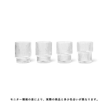 fermLIVING(ファームリビング)RippleSmallGlasses(リップルスモールグラス)4個セット北欧/インテリア/日本正規代理店品