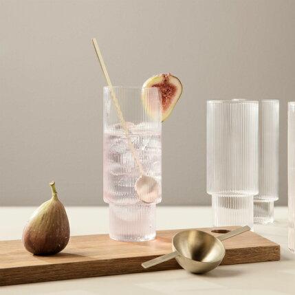 fermLIVING(ファームリビング)RippleLongDrinkGlasses(リップルロンググラス)4個セット北欧/インテリア/日本正規代理店品