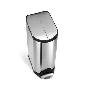 simplehuman (シンプルヒューマン) バタフライステップダストボックス 30L シルバー ゴミ箱/正規販売店