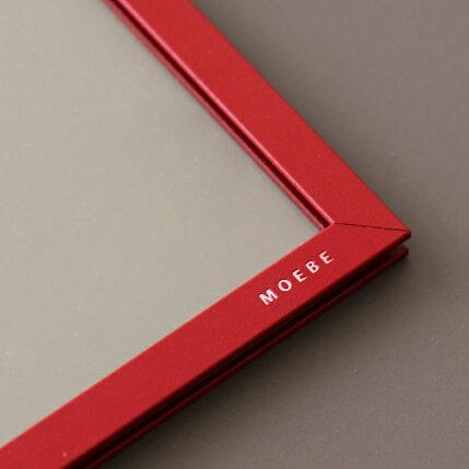 MOEBE(ムーベ)FRAMEA4ディープレッドアクリル板/ポスター/額縁/壁掛け/北欧/インテリア
