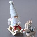 NORDIKA nisse (ノルディカニッセ) そりに乗るサンタ(NEWデザイン) 北欧/インテリア/クリスマス