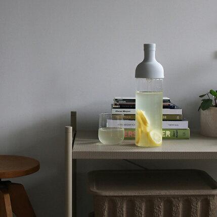 365methods(サンロクゴ・メソッド)HARIOフィルターインボトル750mlレモンイエロー/ライトグレーカラフェ/水出し/耐熱ガラス