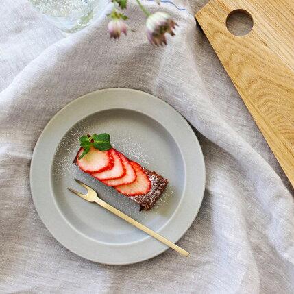 kura(クラ)/Ena(エナ)リムプレート16cm/クールグレー/マット/和洋食器/食器/皿