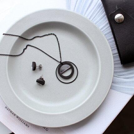 kura(クラ)Ena(エナ)リムプレート16cmクールグレー/マット和洋食器/食器/皿