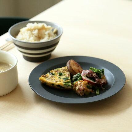 kura(クラ)Ena(エナ)リムプレート19cmスレートグレー/マット和洋食器/食器/皿