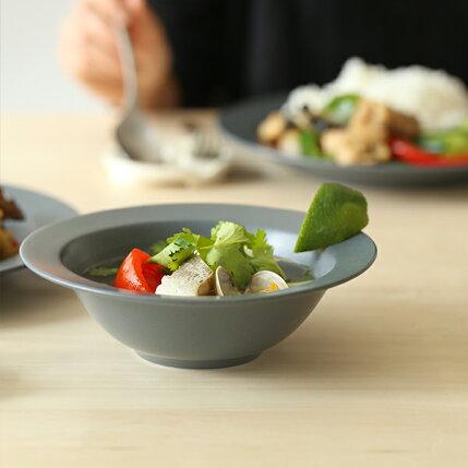 kura(クラ)Ena(エナ)リムプレート/スープボウル17cmスレートグレー/マット和洋食器/食器/皿
