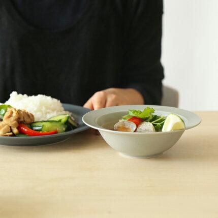 kura(クラ)/Ena(エナ)リムプレート/スープボウル17cm/クールグレー/マット/和洋食器/食器/皿