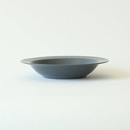 kura(クラ)Ena(エナ)リムプレート/ディープ/パスタプレート21cmスレートグレー/マット和洋食器/食器/皿